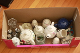 Box Of Teapots, Salt/Pepper Shakers, & Misc.