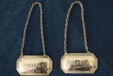 English Silver Brandy Label & Whiskey Label