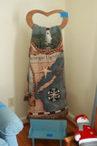 Wooden Quilt Rack With Blanket & Doll Bench