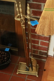 Brass Fireplace Set
