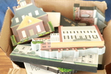 2 Boxes Of Cats Meow Historical Wooden Buildings