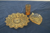 3 Pieces Of Depression Glass