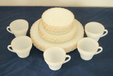 Set Of Fire King Plates & Cups