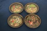 9 Fianex Painted Plates
