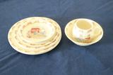Royal Doulton Bunnykins Cup & Saucer And 7 Plates