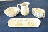 Pillivuyt Bowls, Tray, Oyster Trays, & Pitcher