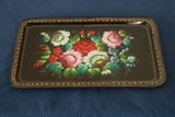 Signed Metal Painted Tray