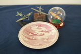 Martin Aircraft Plate & 3 Model Planes