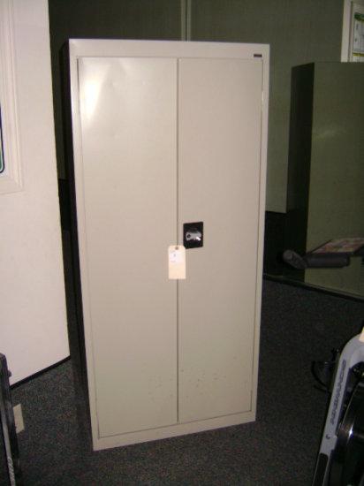 """2 Door Alera 4 shelf tan cabinet 30"""" W x 15"""" D X 66"""" H"""