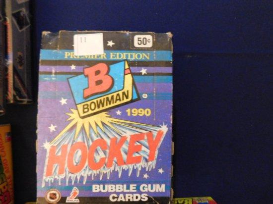 1990-91 BOWMAN HOCKEY UNOPENED WAX PACK BOX