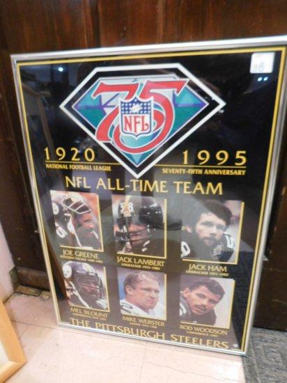 FRAMED STEELER, NFL 75TH ANNV.- ALL-TIME TEAM