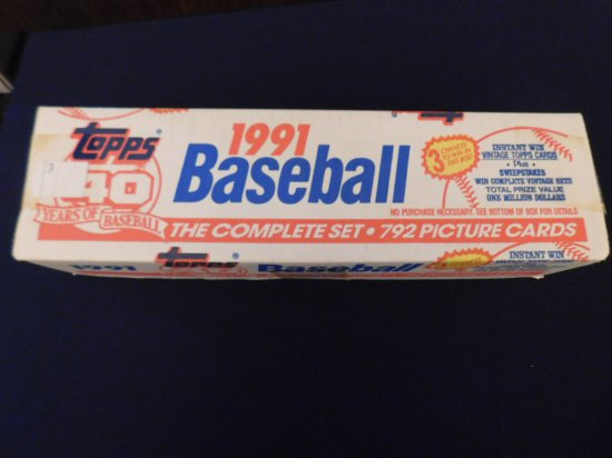 1991 TOPPS BASEBALL FACTORY SET -CHIPPER ROOKIE