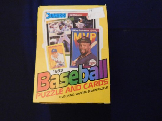 1989 DONRUSS BASEBALL WAX PACK BOX (UNOPENED ) GRIFFEY ROOKIE