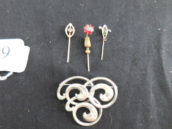 LOT 4 PINS GOLD FILLED
