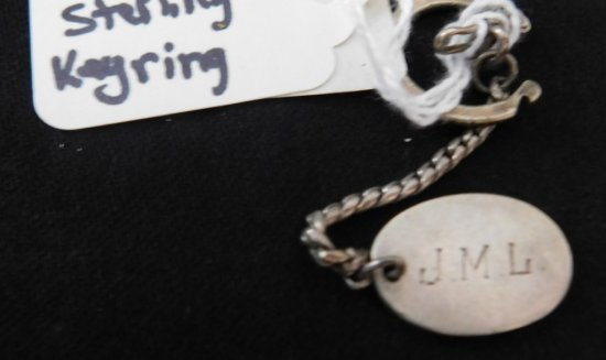 STERLING SILVER KEY RING DATED 5/9/63