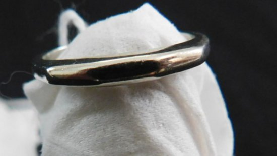 RING ONE 14k WHITE GOLD BAND, 4-1/4