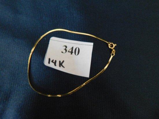 14K BRACELET HERRINGBONE