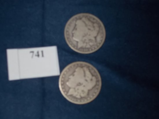 (2) 1890 O  MORGAN DOLLARS