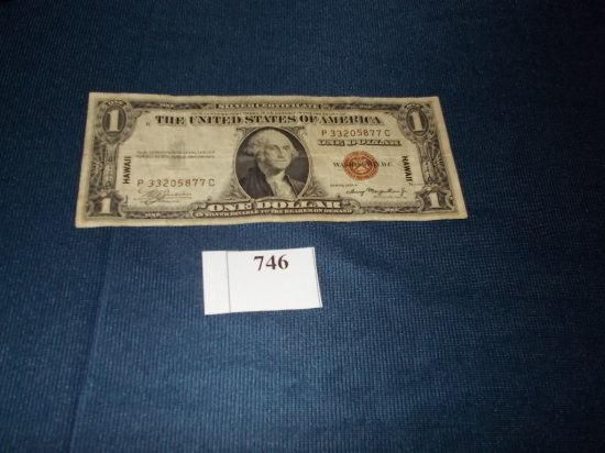 1935 A  BROWN SEAL HAWAii -SILVER CERTIFICATE