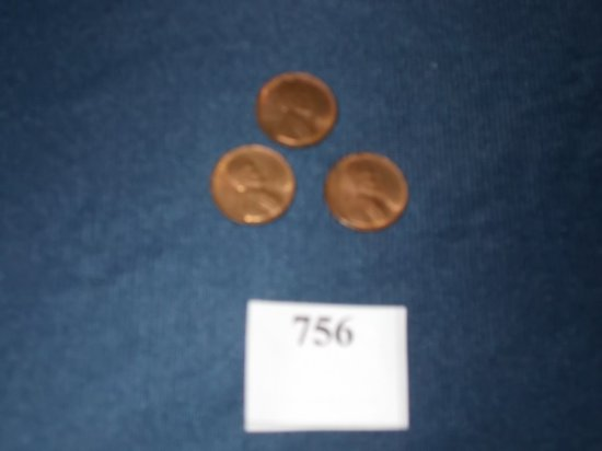 1952 P, 56, 58  D LINCOLN CENTS