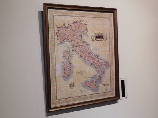 """P LAFFERTY PRINT MAP OF ITALY MEASURES 17 1/2"""" X 20"""" RETAIL $125"""