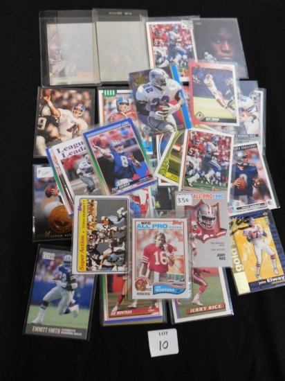 LOT OF OVER 30 HALL OF FAMER FOOTBALL CARDS INCL 1982 TOPPS JOE MONTANA #48