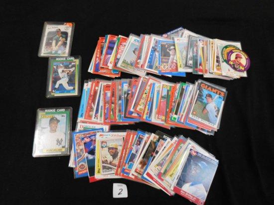 LOT OF OVER 150 BASEBALL CARDS INCL. 1990 TOPPS SAMMY SOSA & BERNIE WILLIAM