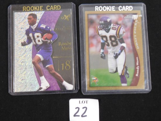 (2) FUTURE HALL OF FAMER ROOKIE CARDS: RANDY MOSS ROOKIE CARDS 1998 TOPPS C