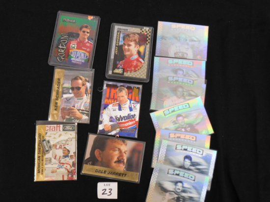 (13) DIFFERENT NASCAR TRADING CARDS INCL. (2) JEFF GORDON PROMOS, (7) 1995