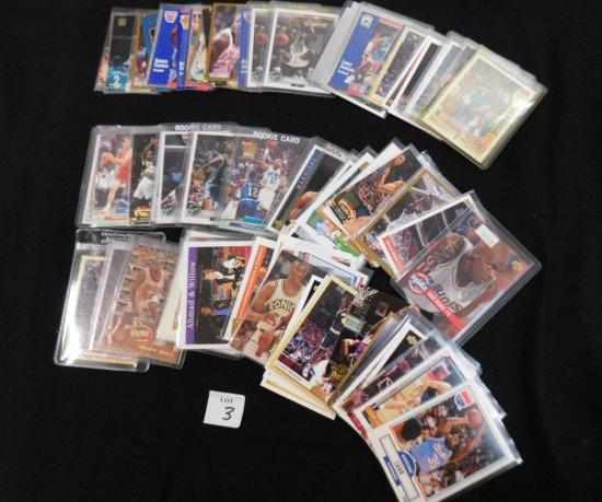 LOT OF OVER 85 BASKETBALL CARDS, INCL. MICHAEL JORDAN 92-93 MCDONALDS UPPER