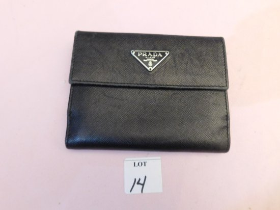 PRADA WALLET, (NEW), BLACK
