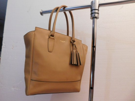 COACH HANDBAG (NEW) #L1294-19924 TAN IN COLOR, (2) 1-INCH PEN MARKS ON THE