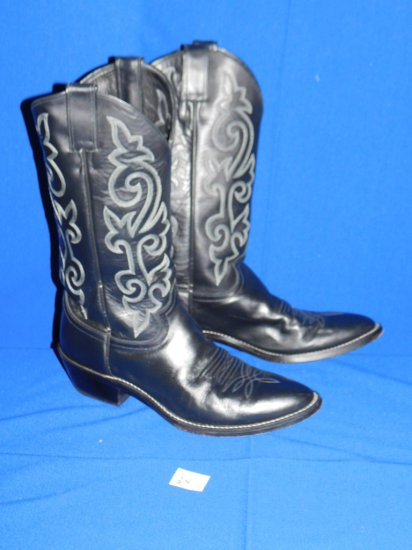 JUSTIN COWBOY BOOTS STYLE #1409 SIZE 10 B BLACK