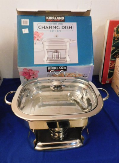KIRKLAND CHAFING DISH 5 QT STAINLESS STEEL