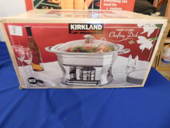 KIRKLAND CHAFING DISH 4 QT STAINLESS STEEL