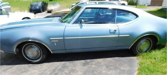 1969 OLDMOBILE CUTLASS – S MODEL 2 DOOR – 350 AUTOMATIC WAS A SOUTHERN CAR
