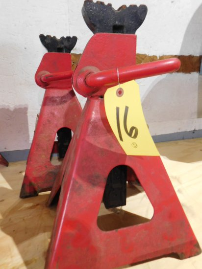 TWO - 12 TON JACK STANDS