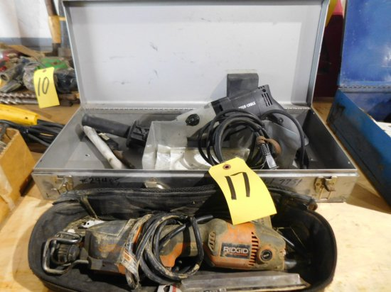 PORTER CABLE HAMMER DRILL AND RIDGID SAW-ALL