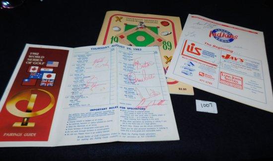 BASEBALL GROUP: THURMAN MUNSON MEMORIAL STADIUM CANTON INDIANS 1989 SOUVENI
