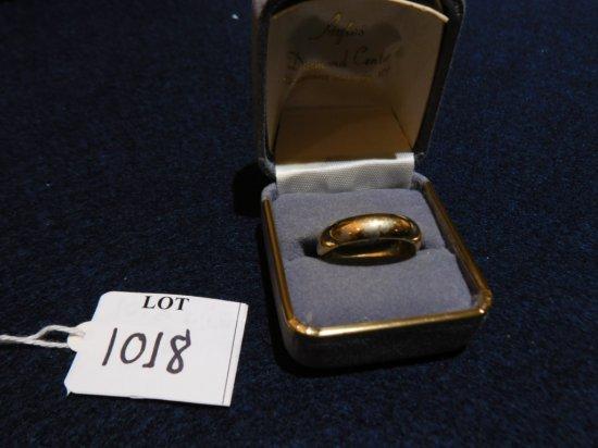 RING: 18K PLATED WEDDING BAND