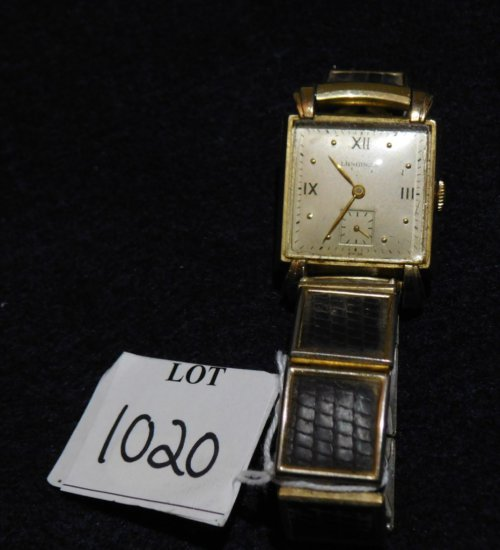 WATCH GOLD FILLED LONGINE'S WATCH WITH SECOND HAND UNUSUAL BAND RUNS AND ST