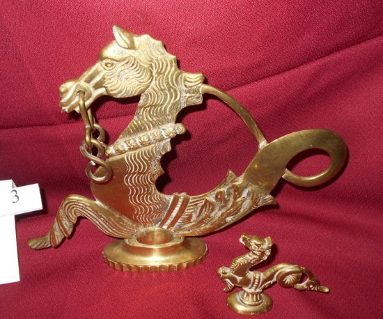 SEA HORSES BRASS