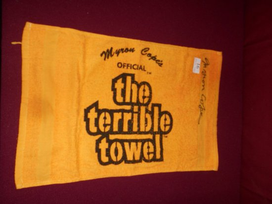 MYRON COPE AUTOGRAPHED OFFICIAL TERRIBLE TOWEL