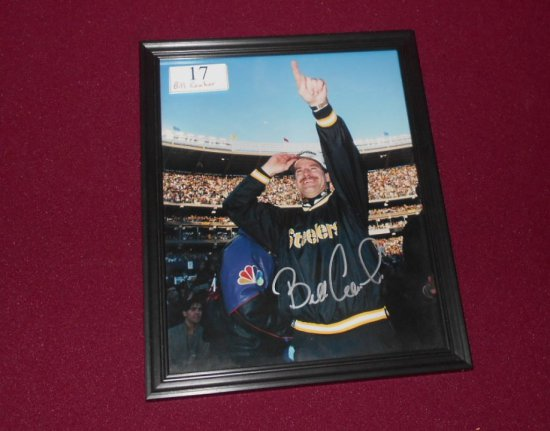 """BILL COWHER 8X10 """" COLOR FRAMED PHOTO AUTOGRAPHED BY BILL COWHER"""