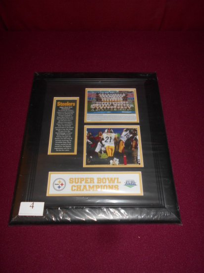 STEELERS SUPERBOWL XLIII CHAMPION FRAMED/MATTED PLAQUE- NEW SEALED
