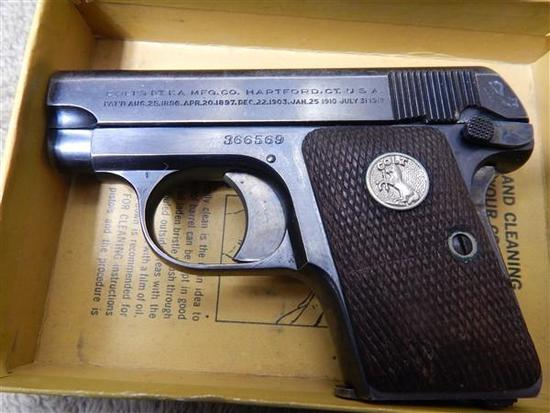 COLT JR, 25 ACP, IN BOX