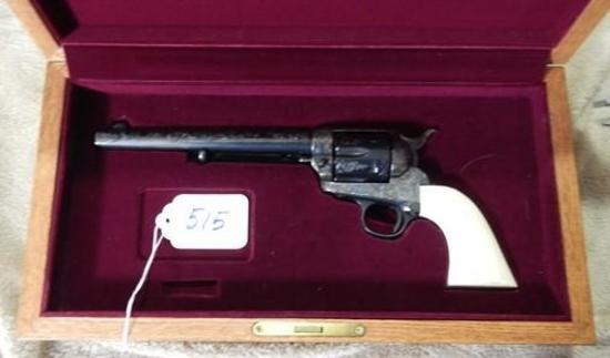 """COLT SINGLE ACTION ARMY, FIRST GENERATION MADE IN 1901, 7 1/2"""" BARREL, FULLY ENGRAVED, SN214729"""