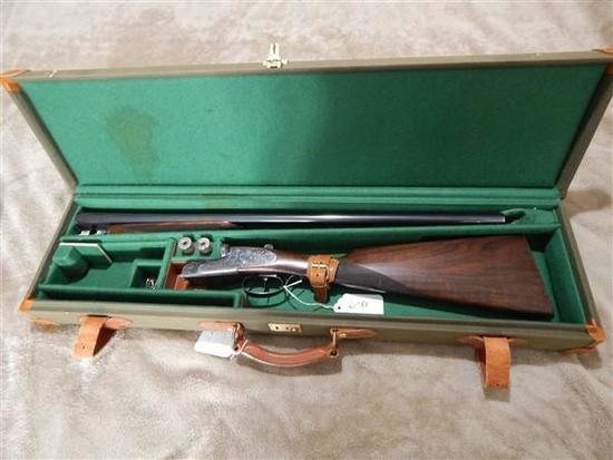 """GRIFFIN AND HOWE IMPORTED ARIETTA, 20 GA, SIDE BY SIDE, 26"""" BARRELS, HAND DETACHABLE SIDE LOCKS,"""