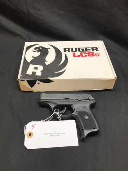 RUGER MODEL LC9S, 9MM, IN BOX, SN-451-23344
