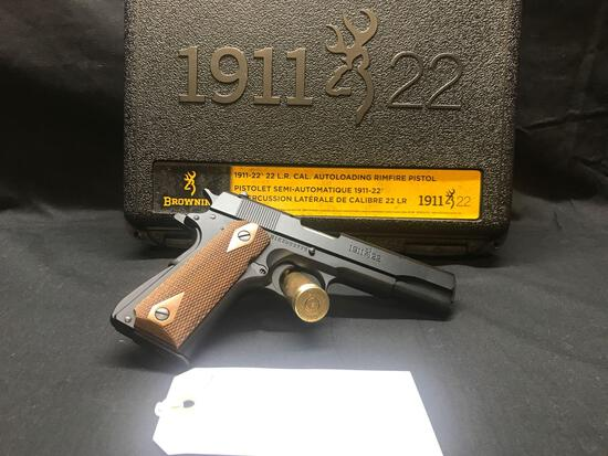 BROWNING MODEL 1911, 22 CAL, FULL SIZE,